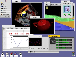 BeOS Tracker screen shot