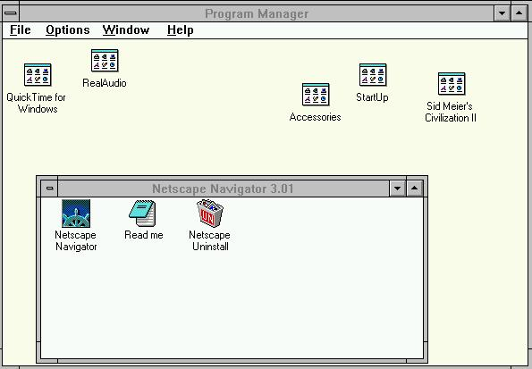 Windows 3.1 screen shot